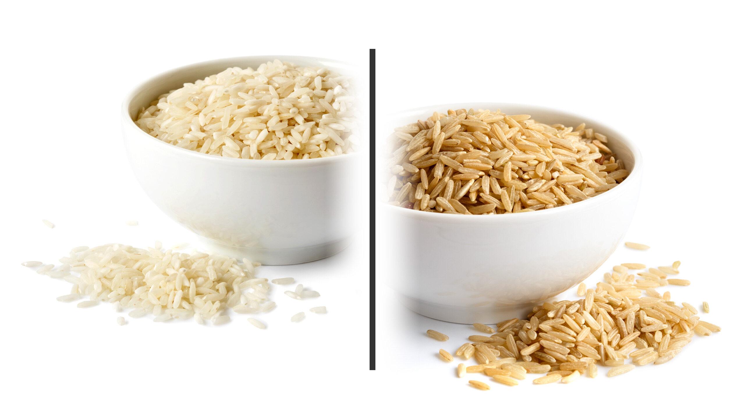 Biały i brązowy ryż. Kalorie, składniki odżywcze